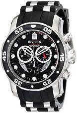 Invicta Pro Diver Automatic Men's 48mm Chronograph Black Polyurethane Watch 6977