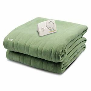 Biddeford Blankets Comfort Knit Electric Heated Blanket with Analog Controlle...