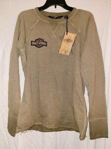 Harley-Davidson Women's Studded Raglan Pullover Sweatshirt Medium NWT