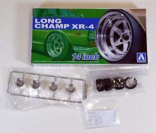 "Aoshima 1/24 Long Champ XR-4 14"" Wheel Rims & Tire Set Plastic Models 5257 (18)"