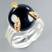 Handmade Natural Spinel 925 Sterling Silver Ring Size 7.75/R113308