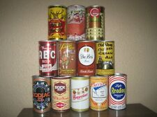 12 Different Bottom Opened Older Steel Beer Cans From Mixed Breweries Lot 310