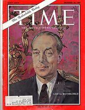 Time Magazine 1963, Dec 20, Guy De Rothschild