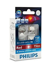 NEW PHILIPS LED T20 (W21/5W) 75lm/15lm 12V 1.97W/0.4W X-treme Ultinon 12768X2