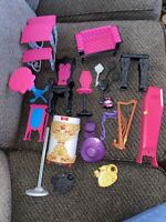 Monster High And Ever After High Doll Furniture And Brush Lot