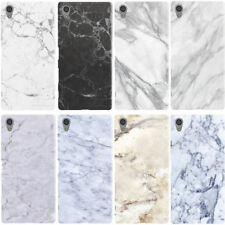 DYEFOR FAUX MARBLE EFFECT RANGE PHONE CASE COVER FOR SONY XPERIA