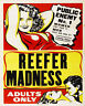 Reefer Madness - VINTAGE ADVERTISING ENAMEL METAL TIN SIGN WALL PLAQUE