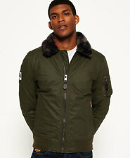 New Mens Superdry SDR Winter Flite Jacket Deep Khaki