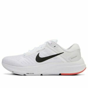 New Womens  Nike Air Zoom Structure 24 White Black Running Shoes sz 8.5