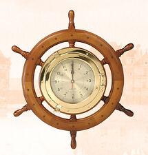 "24"" Porthole Ship Wheel Clock"