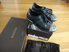 GUCCI Made In Italy Leather, Canvas Shoes - Size 7Europe/8US