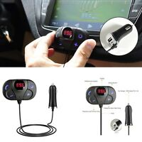 Small Wireless FM Bluetooth Transmitter For Phone Handsfree USB/TF Card Port