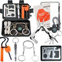 SOS Emergency Survival Equipment Kit Tool Tactical Hunting Camping Outdoor  UK