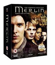The Complete Merlin BBC TV Series DVD Box Set Collection Series 1+2+3+4+5 NEW