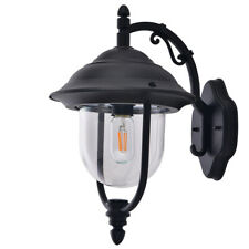 Outdoor Lighting Fixtures Wall Mount Light Wall Sconce Black Finish Clear Glass