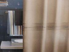 "Home Heather Beige Linen Fabric Shower Curtain 72"" x 72"" NIP"