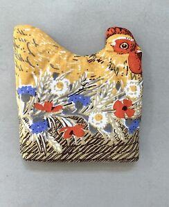 Vintage 1970's Pat Albeck ? Chicken Hen fabric Egg Cosy Cuckoobird New & Unused