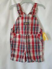 OshKosh BGosh Baby Boy 18 Months Red Plaid Cotton Short...