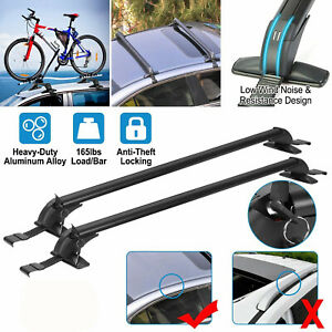 "43.3"" Car Top Luggage Roof Rack Cross Bar Cargo Carrier Adjustable Window Frame"