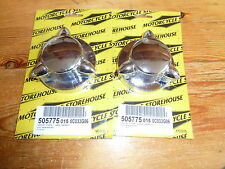 Pair Of Pike Petrol Gas Cap Covers Fit Harley-Davidson Late 73-83 And Customs
