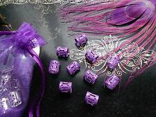 Dreadlock Beads Adjustable Lilac Purple Cuff Tube Matte Finish  Dread Beads Uk