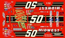 #50 Ricky Craven Midwest Transit 2000 1/32nd Scale Slot Car Waterslide Decals