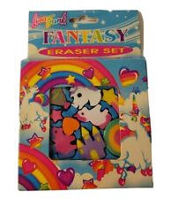 Vintage Lisa Frank Fantasy Eraser Set , Unicorns