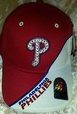 Philadelphia Phillies Womens Ultra Bling MLB Baseball Cap Hat ~NEW~Ultra