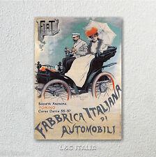 Fiat 1899, STAMPA SU TELA - AUTOMOBILI POSTER COLLEZIONE MANIFESTI AUTO ANTICHE