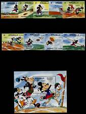 Anguilla 559a-68a MNH Disney, Sports, Olympics, Athletics