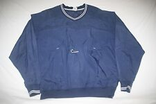 Nike Windbreaker Wind Rain Nylon Pullover Jacket Mens L Blue NEW