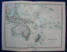 More details for original antique map oceania, polynesia, micronesia,  a.k. johnston, 1896
