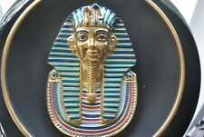 Egyptian Golden Mask of Tutankhamun First Issue Collector framed Plate 22 karat