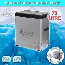 Alpicool 75L Portable Compressor Fridge Freezer Car Caravan Boat Cooler Box DC12