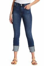 - Level 99 Womens Spark Wash Sloan Seamed High Rise Button Fly SKINNY Jeans