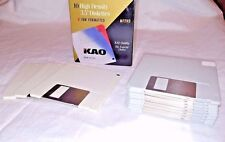 "KAO MF 2HD 1.44MB 3.5"" Floppy Disks DISKETTES Double Sided USA IBM Formatted"
