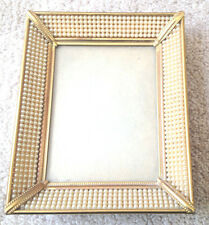 """VINTAGE PHOTO FRAME Gold and Pearl Frame 4.5""""x5.5"""" - acquired in the 1920s"""