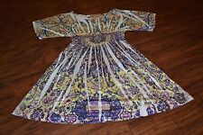 I0- Frock Candy Multi-Color Short Sleeve Dress Size Small