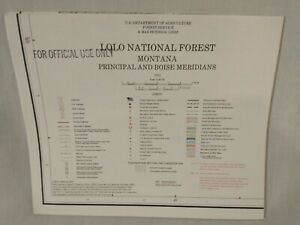 USDA Forest Service Topographical Map LOLO NATIONAL FOREST Montana 1984 Vintage