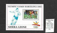Sierra Leone 1992 Olympic Games min sheet MNH
