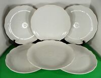 Mikasa SPRING MAGNOLIA Dinner Plate (s) LOT OF 6 White Embossed Laslo FT900