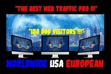 TRAFIC WEB TRAFFIC ONLINE WEBSITE 180 000 REAL VISITORS WORLDWIDE USA EUROPEAN