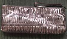 CLINIQUE Rose/Pink Colour Clutch Bag. Evening Bag With Wrist Strap