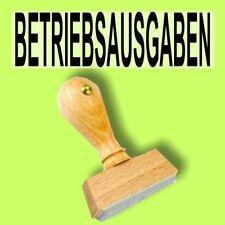 BETRIEBSAUSGABEN - Holzstempel 10 x 35mm Büro Stempel