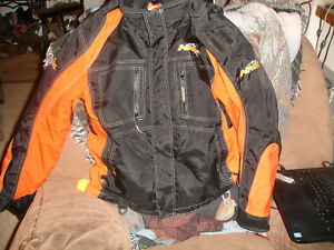 HMK Snowmobile Cordura Racing Jacket hooded insulated reissa membrane Coat XS