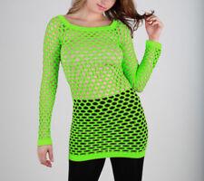 Summer Hot Fishnet Long Sleeve Shirt Dancing Blouse Top Beach Suite
