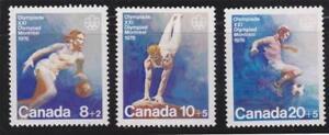 Canada 1976 B10 to B12 Olympic Team Sports MNH