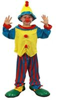 COLOURFUL CLOWN CIRCUS CHILD BOYS FANCY DRESS BOOKWEEK COSTUME
