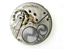 Vintage Elgin S16 15J Pocket Watch Movement RUNS Needs Cleaning