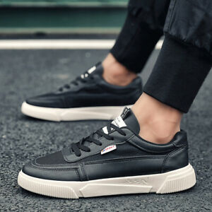 Mens Fashion Boards Sneakers Shoes Outdoor Running Sports Lace up Flats Casual B